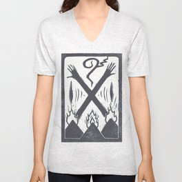 Banishment (White) Unisex V-Neck