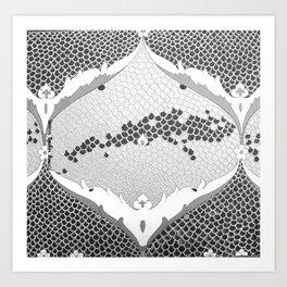 BLACK AND WHITE IZNIKY Art Print