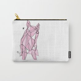 """""""I'm happier than a pig eating bacon!"""" - Lemony Snicket - Carry-All Pouch"""