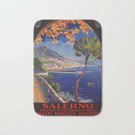 Salerno Italy vintage summer travel ad Bath Mat