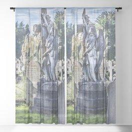 Cemetery Headstone Sheer Curtain