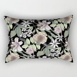 lush floral pattern with bee and beetles II Rectangular Pillow