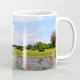 World Peace Pagoda with Lotus Flowers Coffee Mug
