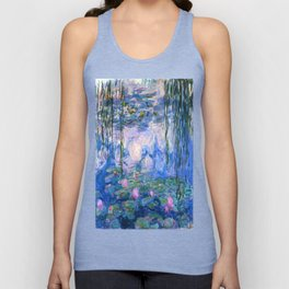 Water Lilies Monet Unisex Tank Top
