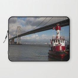 Bay Bridge Fire Boat  Laptop Sleeve