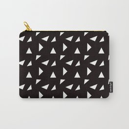 Triangle Toss in White on Black Carry-All Pouch