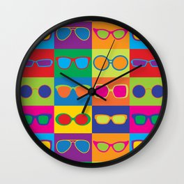 Pop Art Eyeglasses Wall Clock