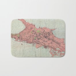 Vintage Map of Bombay India (1895) Bath Mat