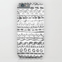 Black and White Tribal Pattern iPhone Case