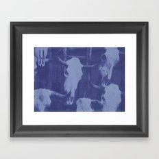 Southwest Cyanotype Framed Art Print