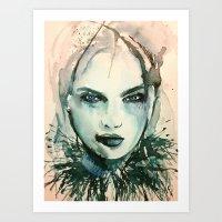 indigo Art Prints featuring Indigo by Sarah Weyman