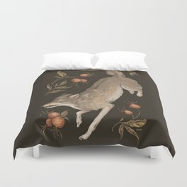 The Wolf and Rose Hips Duvet Cover