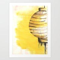 lantern Art Prints featuring Lantern by Emma Stein
