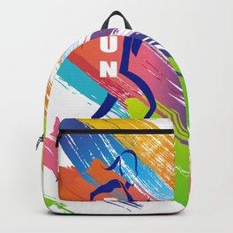 Multicolor Woman runner Backpack