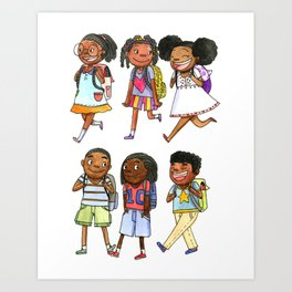 Off to school Art Print