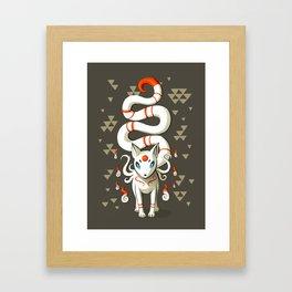 Long Tail Fox Framed Art Print