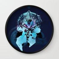 illuminati Wall Clocks featuring Illuminati Astronaut by Largetosti