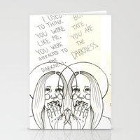 ahs Stationery Cards featuring Violet AHS by Luna Perri