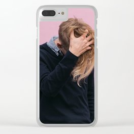 MAN - WOMAN - LONG - HAIR - PINK - PHOTOGRAPHY Clear iPhone Case