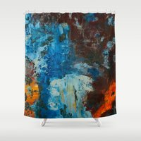 metal Shower Curtains featuring Metal by yellowbunnies