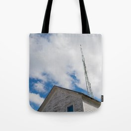 tower to the sky Tote Bag