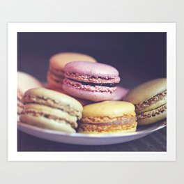 macarons on the windowsill Art Print