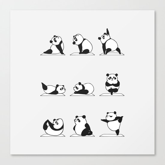 Panda Yoga Canvas Print