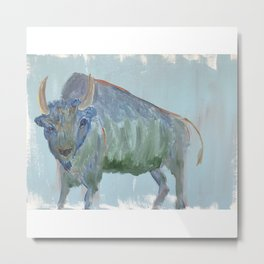 Brave Buffalo Metal Print