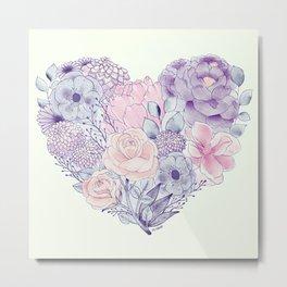 flower heart Metal Print
