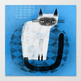 SIAMESE ON BLUE Canvas Print
