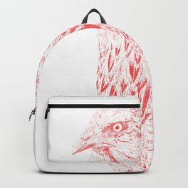 she's a beauty drawing, red Backpack