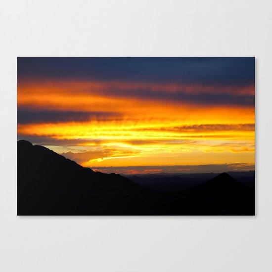 Setting of the Sun Canvas Print
