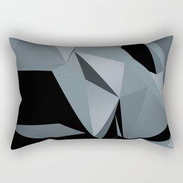 Black Ice Abstraction Rectangular Pillow