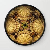 kaleidoscope Wall Clocks featuring Kaleidoscope by Irina Chuckowree
