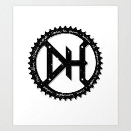 Downhill chainring Art Print