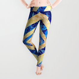 Abstract Crystals Pattern Leggings