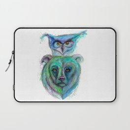 Owl and Bear Totem Laptop Sleeve