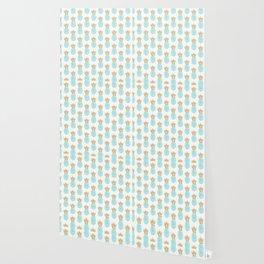 Elegant faux gold pineapple pattern Wallpaper
