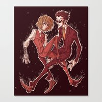 suits Canvas Prints featuring suits by vvisti