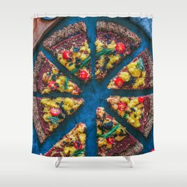 Cauliflower Vegan Pizza Shower Curtain