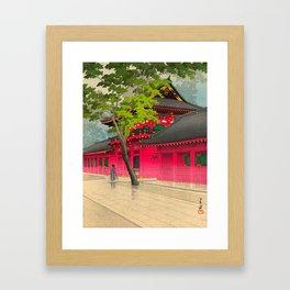 Kawase Hasui After the Rain at Sanno 1938 Japanese Woodblock Print Framed Art Print