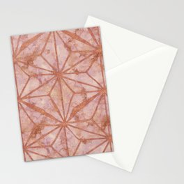 North Star Rose Gold Metal Marble Abstract Stationery Cards