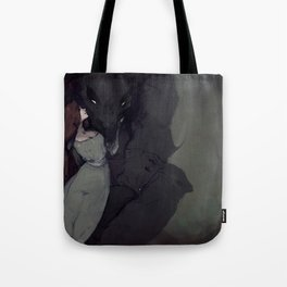 A Maiden and Her Monster Tote Bag