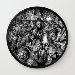 Frankenstein Villagers Wall Clock