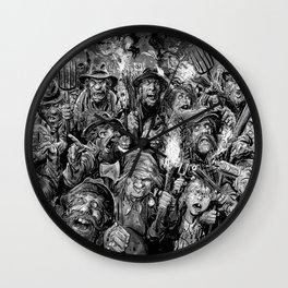 Frankenstein Villagers Wall Clock