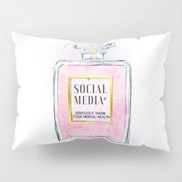Eau de Social Media Seriously Harm Your Mental Health Pillow Sham