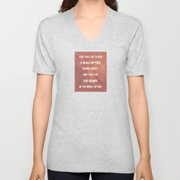 WALL OF FIRE Unisex V-Neck