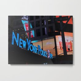 New York Police Dept Metal Print