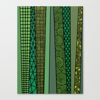 bamboo Canvas Prints featuring Bamboo by glorya