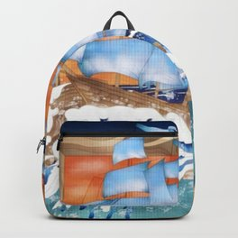 Ship Sails Out of Frame Backpack